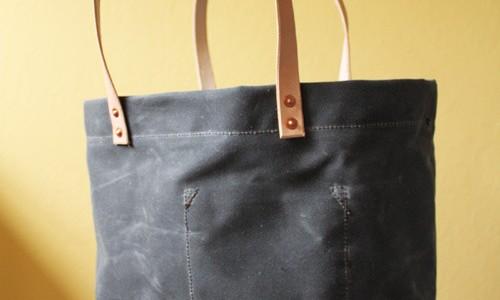 Strawfoot Handmade – Waxed Canvas Tote Bag