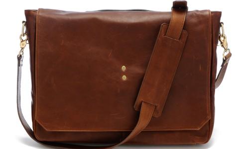 Ernest Alexander – Mercer Brown Leather Messenger