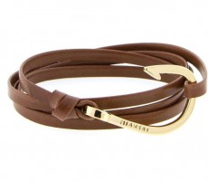 MIANSAI – Gold Hook Leather Bracelet