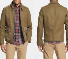 Schott NYC Wool Military Jacket